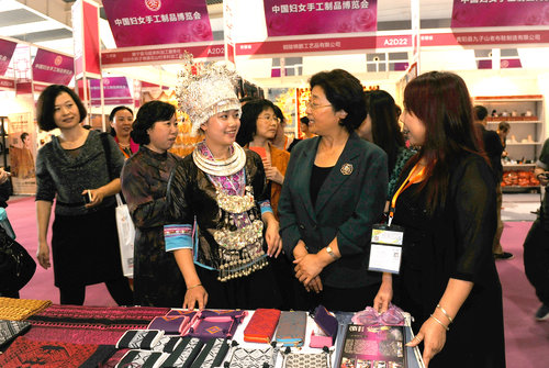 Nifty Needlework On Display in China's Small Goods Capital