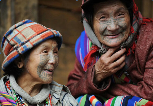 Face-tattooed Women: Living Fossils of China's Derung Culture