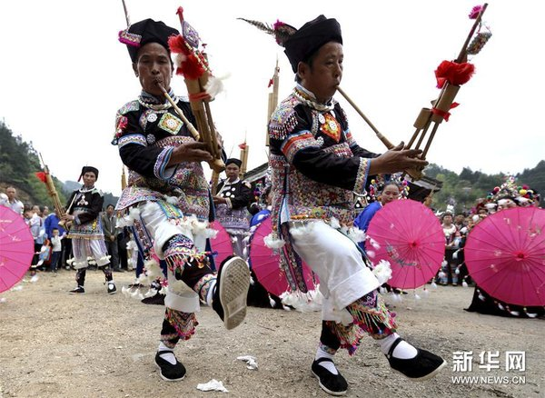 Dong People Celebrate Earth King Festival in S China
