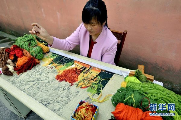 Needlepoint Tapestry Art Brings Prosperity to Female Villagers