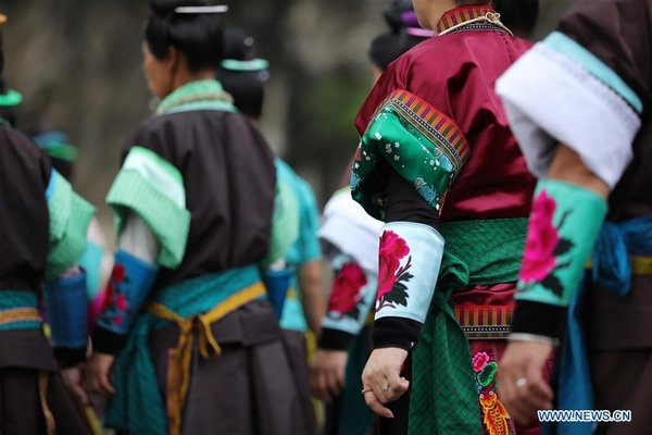 Miao People Celebrate Chixin Festival in SW China's Guizhou