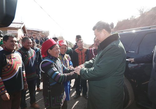 Xi Visits Impoverished Ethnic Villagers in SW China