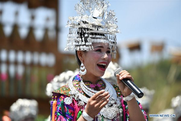 People of Dong Ethnic Group Take Part in Singing Party with Visitors