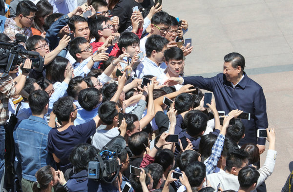 President Xi Jinping Greets Students for Youth Day