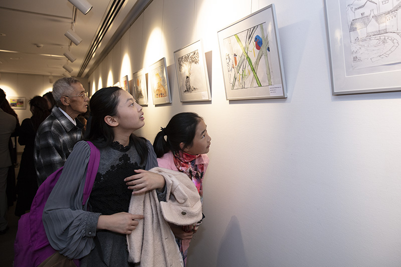 Opening Ceremony of 'Make the World A Better Place – Int'l Children's Painting Exhibition in Honour of the Tenth Anni of Wenchuan Earthquake' Held in Sydney
