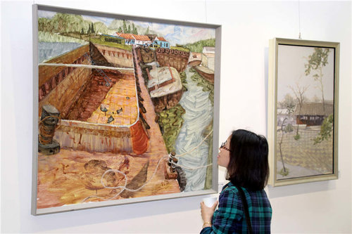 Ten Artists' Paintings on Display in Suzhou