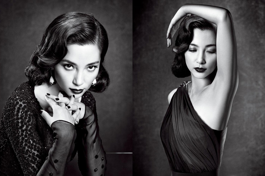 female celebrities in black white all china women s federation
