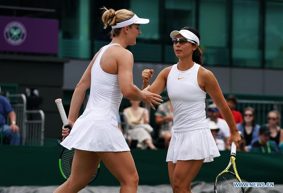 Xu Wins 2-0 at Women's Doubles of Wimbledon Championships 2018