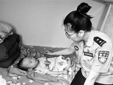 Policewoman Serves as Temporary Mom for Abandoned Baby with Cerebral Palsy