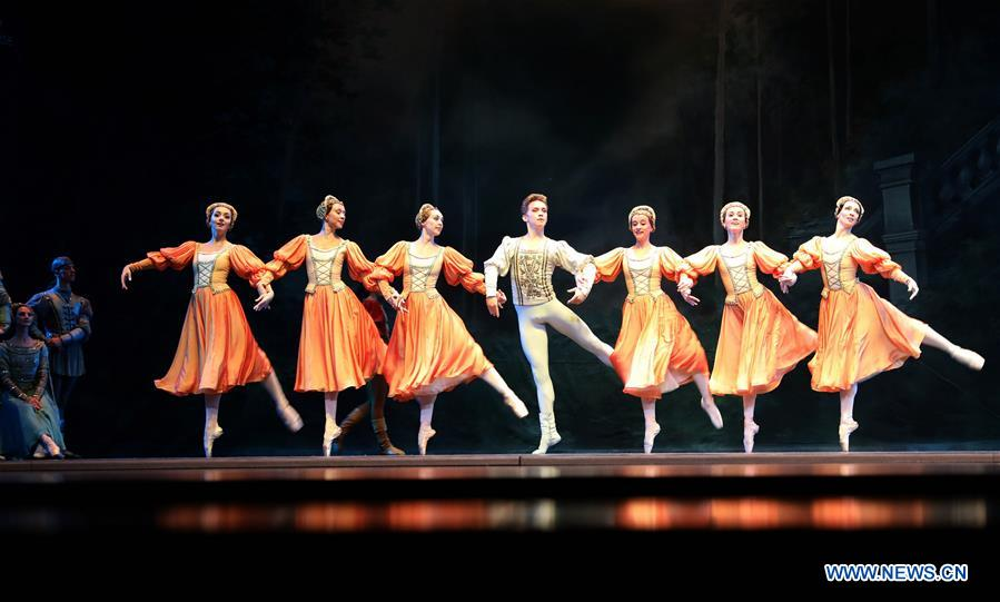 Ballet 'Swan Lake' Staged at Tangxianzu Theater in Fuzhou, China's Jiangxi