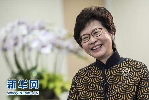 HK Chief Vows Zero Tolerance of Secessionists, More Land Supply