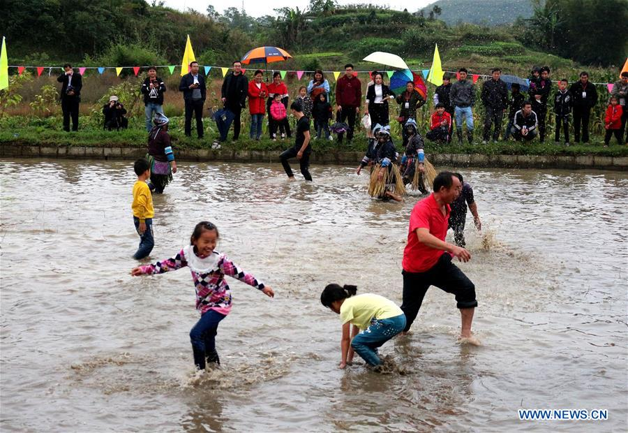 Fish Catching Festival Held to Celebrate Harvest in China's Guangxi