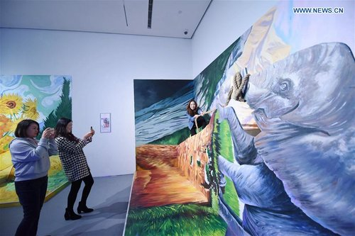 Van Gogh Immersive Experience Exhibition Held in Hangzhou, E China's Zhejiang